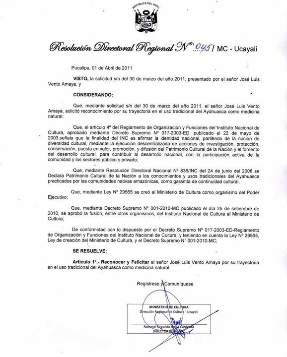 ayahuasca certificado jose luis